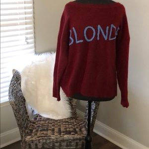 Gianni Bini BLONDE oversized sweater. Medium.